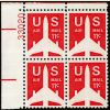 #C78 - 11¢ Jet Liner: Plate Block