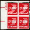 #C79 - 13¢ Winged Letter: Plate Block