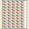 10 Diff 4¢ US Sheets