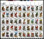 1982 Birds & Flowers Sheet - A Collector Favorite